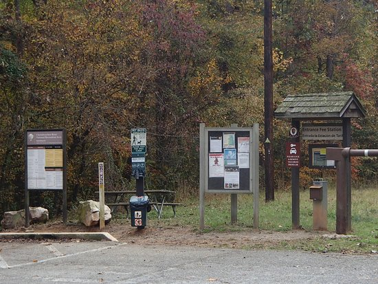 Marietta, GA: Trail head at Gold Branch unit of the Chattahoochee River National Recreational Area