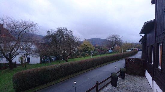 Wolfshagen, Германия: Blick vom Hotel aus, ruhiges Wohngebiet.