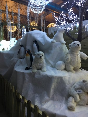 Oakham, UK: Part of the display in Santa's grotto