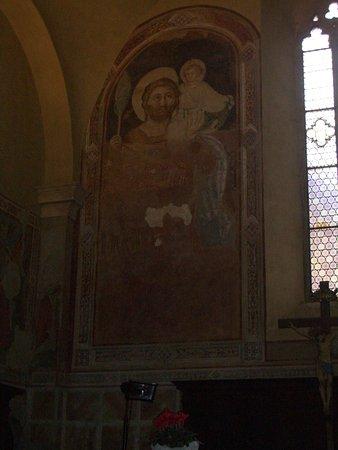 Pieve dei Santi Leonardo e Cristoforo: affresco laterale