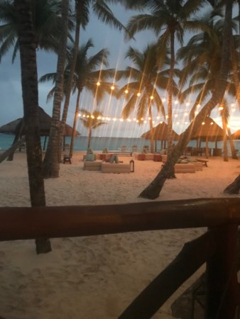 Mahekal Beach Resort: View from Fuego at dinnertime