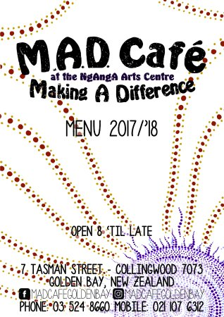 MAD Cafe Golden Bay: MAD Menu - Cover.