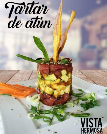 Playa Hermosa, Costa Rica: Tuna tartar el mejor de la zona