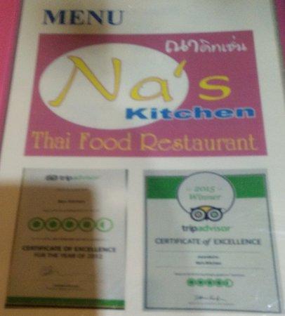 Na S Kitchen Pai Menu