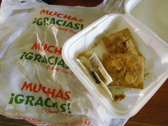 Barstow, CA: Sopapillas for dessert - take out