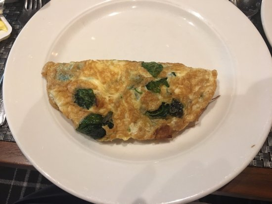Hilton Adelaide: My cheese and spinach omelette.