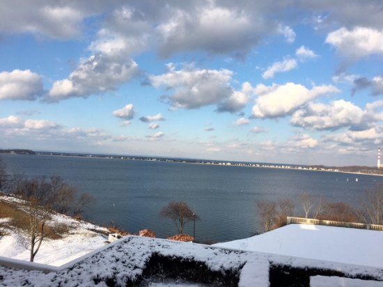 Centerport, Estado de Nueva York: View of Northport Bay from the back of the mansion