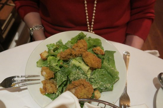 Olde Pink House: Caesar salad with oysters