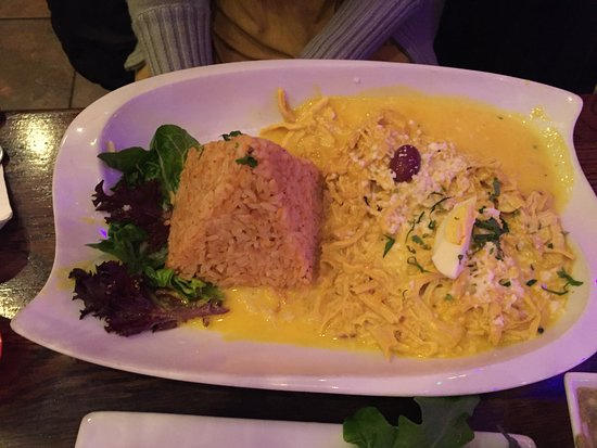 Lambertville, NJ: Aji de Gallina. If you like a dish that is less spicy, this is for you. $18.00