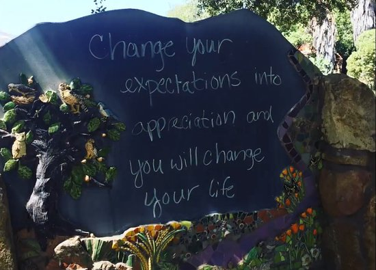 Rancho La Puerta Spa: They have chalk boards with key messages to inspire