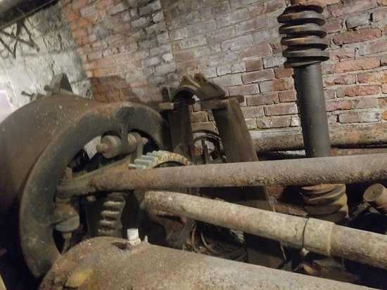 Old elevator parts - Picture of Bill Speidel's Underground