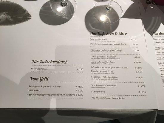 Wiener Neustadt, Österreich: Speisekarte