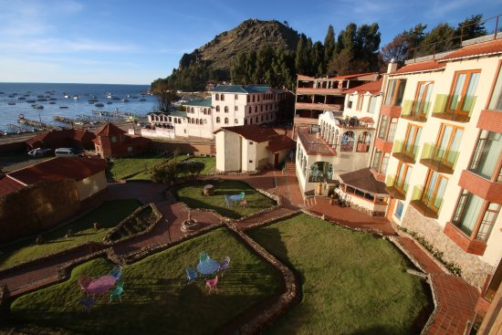 Hotel Rosario Lago Titicaca: View from our hotel room balcony.