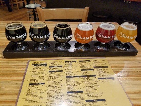 Missoula, MT: Flights of 4 or 6 beers