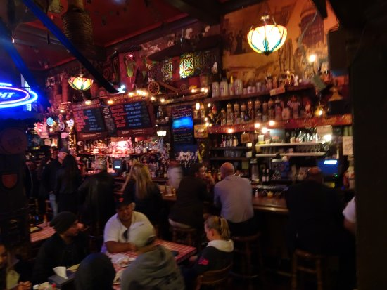 Tommy's Joynt: Massive inventory in the friendly bar with decent prices
