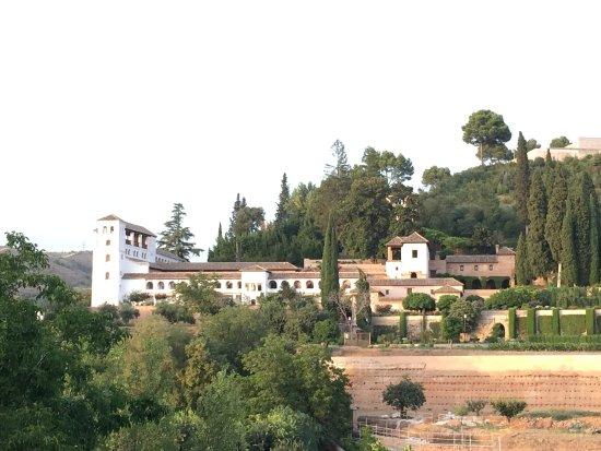 Parador de Granada: View from the dinning restaurant