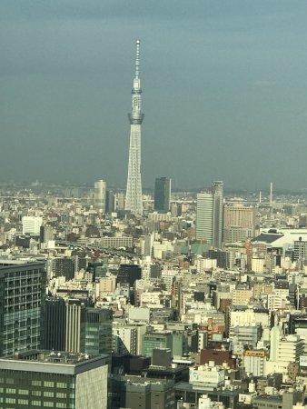 Shangri-La Hotel, Tokyo: View of the city skyline and Tokyo Skytree