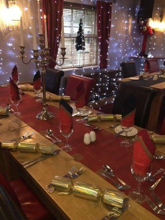 Guisborough, UK: Christmas party table