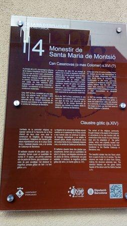 Monestir de Santa Maria de Montsio: Vist des del carrer