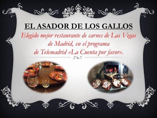 Carabana, Spain: ELEGIDO MEJOR RESTAURANTE DE CARNES DE LAS VEGAS DE MADRID.