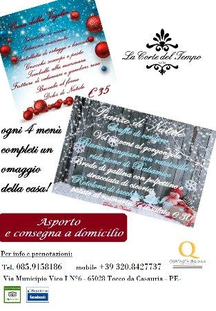 Tocco da Casauria, Italia: Cena della Vigilia e Pranzo di Natale anche da asporto!!! consegna a domicilio!