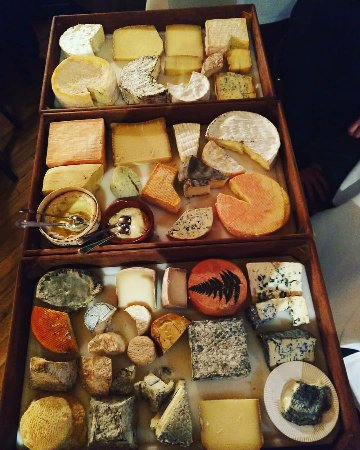 Cheese selection at La Mirabelle