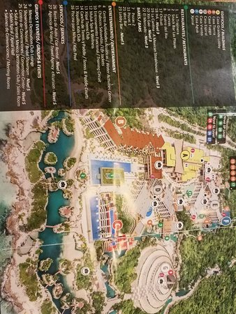 Hotel Xcaret Mexico Map Of Resort