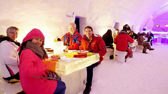 Bukovel, Ukraine: Ice Restaurant