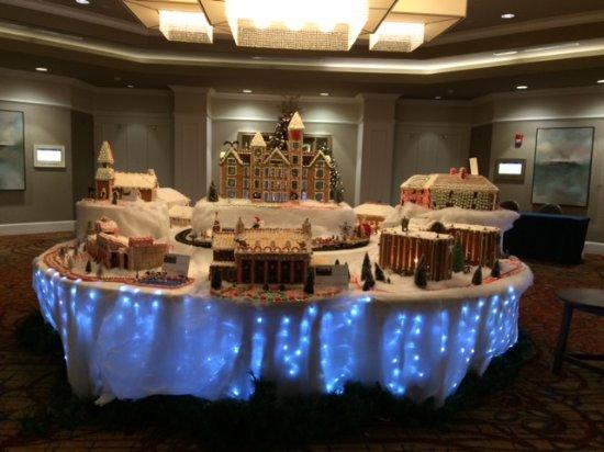 The Hotel at Auburn University: Gingerbread campus display, Auburn Hotel