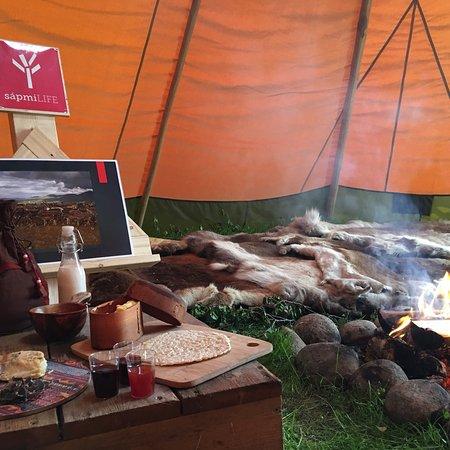 Jukkasjarvi, Sweden: Inside the Lávvu (Tentipi) - a Sámi experience with your senses