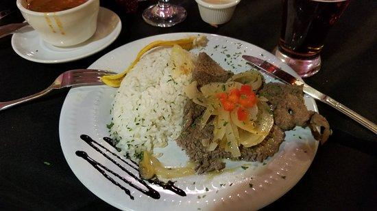 Zephyrhills, FL: Bistec encebollado  Delicioso