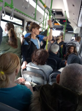 Marsaxlokk, Malta: all buses in Malta are crowded and there is hardly a chance of getting a seat