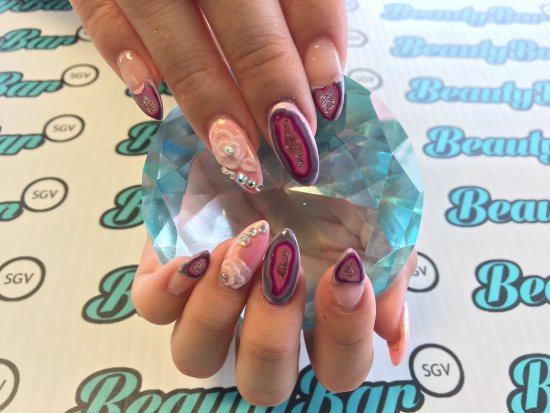 Acrylic Full Set W Nail Art Picture Of Beautybar Sgv San Gabriel