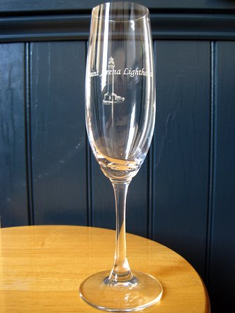 Check out our Point Arena Lighthouse Stemware in the Gift Store