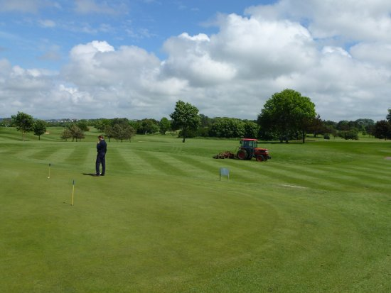 One of the green areas at Morecambe Golf Club