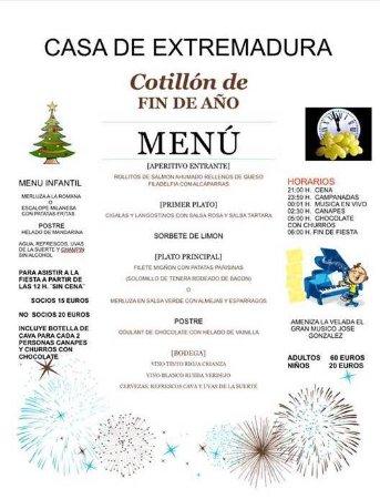 COTILLON Y CENA DE NOCHE VIEJA