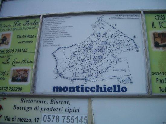 Pienza, Itália: pianta del borgo