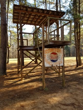 Hillsborough, NC: Flag stand Historic Occoneechee Speedway