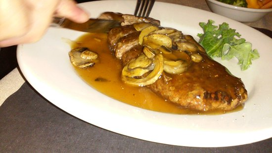 Reading, PA: sirloin/mushrooms