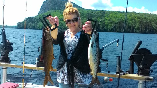 Greenville, ME: Salmon and a lake trout - Awesome Fishing Day....  11 Released all above average!