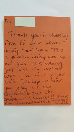 Drury Inn & Suites Houston The Woodlands: Amazing Customer Service Note