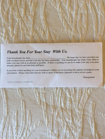 Rancho Mirage, CA: Request for a tip