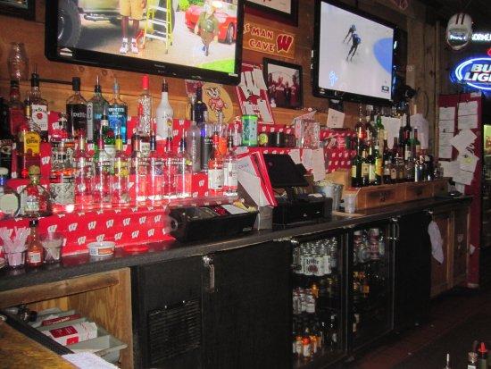 Hudson, Ουισκόνσιν: Back bar