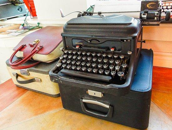 Lunenburg, Canada: some unique antique typewriters on display!