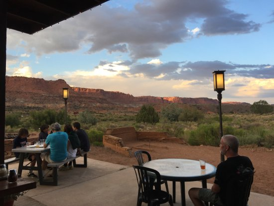 Torrey, UT: This is 'Rim Rock Patio', just across the road from the hotel
