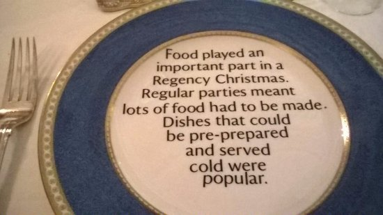 Disley, UK: Very informative dining plates