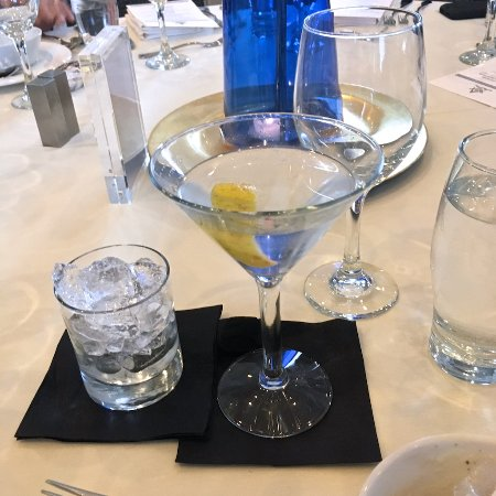 The Nantucket Hotel & Resort: Martini at the table.