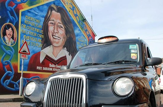 Belfast Famous Black taxi political mural peace wall tour 2 hour