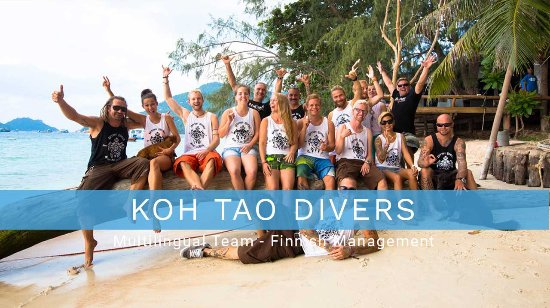 Koh Tao, Thailand: Multilingual - Finnish management
