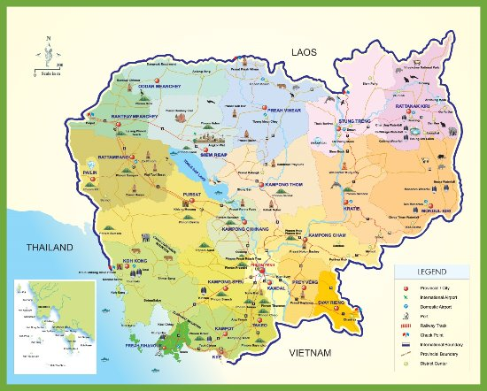 Cambodia Tourism Map - Picture of Merry Travel Asia, Siem Reap ...